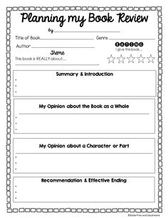 Raving Reviews! - Opinion Writing creating Book Reviews, post-reading activity