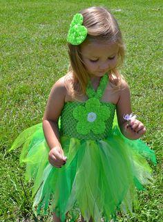 Princess Tinkerbell Tutu Dress Girls Ballerina Style for Birthdays, Pageants, Photos