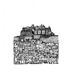 castle city by susie wright from her exhibition Here There at The Red Door Gallery #Edinburgh