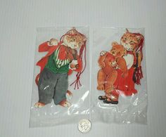 Vintage 1984 Sealed Gordon Fraser Gallery Cat Christmas Collectible Gift Tags