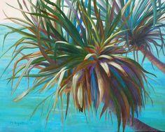 Pandanus 61x76cm Seascape Paintings, Landscape Paintings, Painter Artist, Classic Paintings, Sunshine Coast, Australian Artists, Still Life, Gallery, Roof Rack