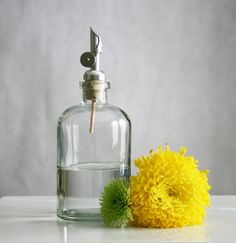 Self Pour Spout Recycled Glass Dispensers- Clear Glass - Apothecary on Etsy, $22.50