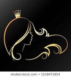 Simple Line Drawings, Art Drawings For Kids, Flower Graphic Design, Circle Logo Design, Princess Logo, Hair Salon Logos, Disney Silhouettes, Beauty Salon Logo, Salon Art