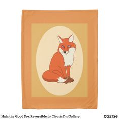 Hala the Good Fox Reversible Duvet Cover - animal gift ideas animals and pets diy customize Counting Sheep, Diy Stuffed Animals, Pet Gifts, Cool Gifts, Animals And Pets, Duvet Covers, Fox, Good Things, Diy Funny