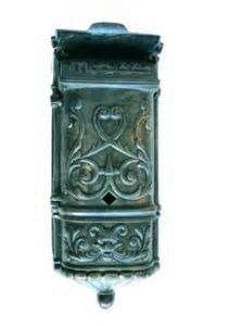 Victorian Mailbox Vintage Tiffany Agaed Solid Brass, Heavy Front Door  Hardware