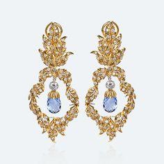 Buccellati - Earrings - Brio Pendant Earrings - High Jewelry - http://us.buccellati.com/en/home?country=us