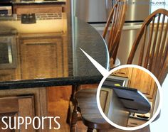 If your #granite or #quartz countertops have an overhang, they may require #support brackets to be installed. These flat steel options stay hidden from normal sight. | VillageHomeStores.com