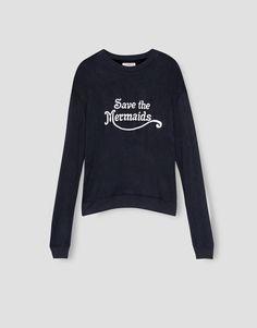 Felpa mensagem - Sweatshirts - Vestuário - Mulher - PULL&BEAR Portugal