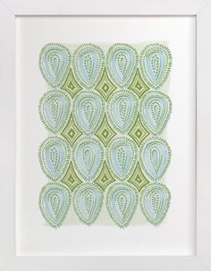 Painted Oval Pattern by Alethea and Ruth at minted.com