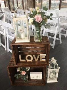33 Warm Fall Wedding Theme Ideas You Can't Resist Wedding Crates, Wedding Favor Table, Beach Wedding Favors, Unique Wedding Favors, Wedding Ideas, Handmade Wedding, Barn Wedding Decorations, Barn Wedding Venue, Rustic Wedding