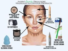 Highlighting and contouring on a budget- drugstore finds!