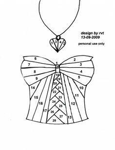 Bustier et collier en irish folding Plus