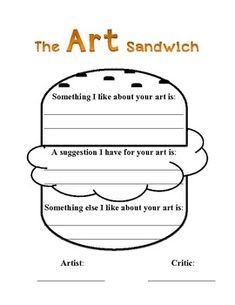 The Art Sandwich, talking about art with younger students