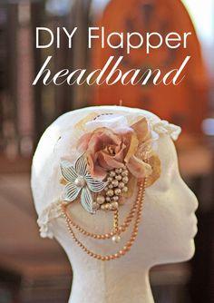 DIY Flapper Headband from www.ThriftTrick.com