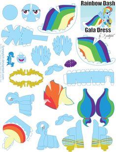 Rainbow Dash Gala Printout by FyreWytch on deviantART