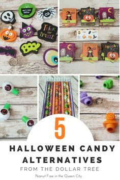Pass out something other than the holiday norm this Halloween! Your trick-or-treats will love these candy alternatives from The @dollartree. Perfect for the Teal Pumpkin Project too! From Peanut Free in the Queen City.