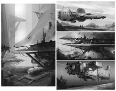 ArtStation - Sketches week 6 Environments, Hueala Teodor
