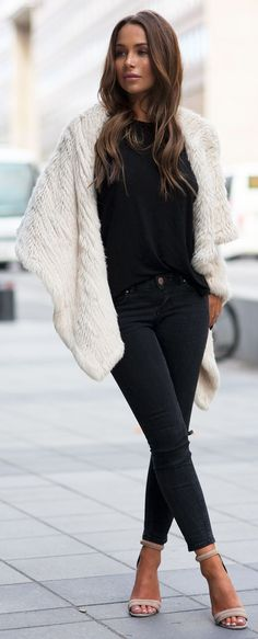 Cozy Black And White Outfit Idea by Johanna Olsson