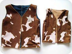 Cowboy dress up vests