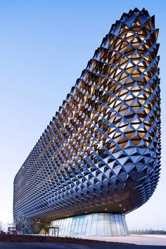 South Australian Medical and Health Research Institute, Woods Bagot - Architects, Adelaide Australia. It looks even more amazing at night.