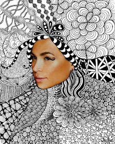 Zentangle Collage - ms a s art classes Collage Kunst, Collage Art, Face Collage, Art Plastic, Zantangle Art, Middle School Art, Art Classroom, Art Club, Art Activities