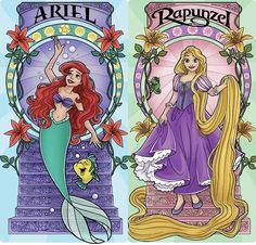 Ariel and Rapunzel Disney Nerd, Arte Disney, Disney Marvel, Disney Movies, Disney Pixar, Vanellope, Disney Addict, Disney Animation, Girl Cartoon