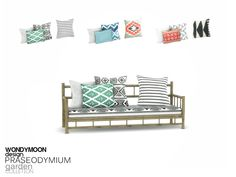 - Praseodymium Garden - Cushion Found in TSR Category 'Sims 4 Miscellaneous Decor'
