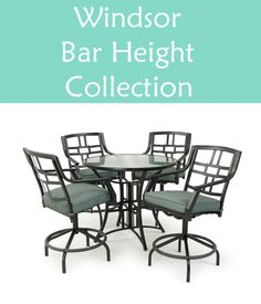 When you have the space, use it. The Windsor Bar Bistro set is perfect for entertaining and will seat more of your family and friends.