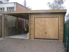 garage toit plat avec abris vehicule