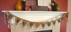 Polka dot Burlap Give Thanks Pennant Banner by LylaDee on Etsy, $19.50
