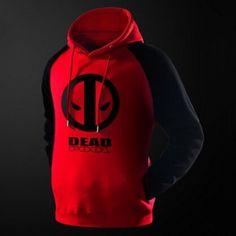X-men Deadpool pullover hoodie for men fleece lined