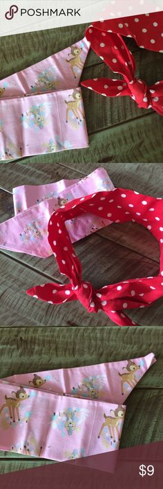 Minnie Mouse + Bambi headscarfs Homemade. Bambi was never worn. Disney Accessories Hair Accessories