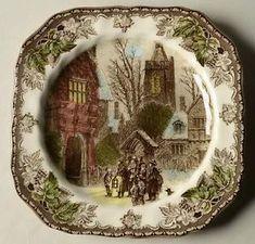 Johnson-Brothers-CHRISTMAS-FRIENDLY-VILLAGE-Church-Village-Salad-Plate-5537383