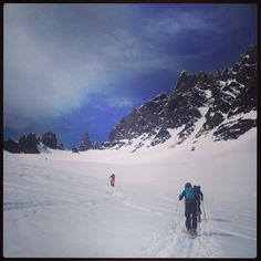Alpine touring in the Sunnmøre Alps, Easter 2014.