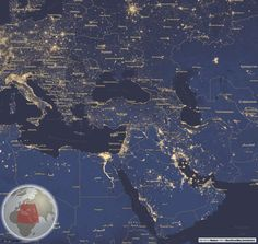 Beautiful Map styling with reference globe in bottom left for zoom level and location