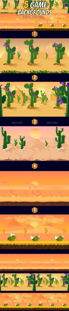 5 Desert Game Backgrounds by VitaliyVill Fresh 5 Game Backgrounds. You can use this backgrounds for your game application/project. The Game background is made with 100 ve Magazine Design, Game Design, Layout Design, Free Game Assets, Pixel Art Games, Graphic Art, Graphic Design, Game Background, Free Games