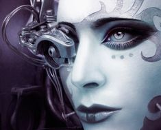 Female Robot Art   women robots cyborgs machines robot girl 1304x1050 wallpaper Art HD ...