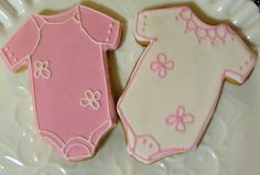Baby Onesies Decorated Sugar Cookies Baby Shower Cookie Favors. $15.00, via Etsy. They taste good too!