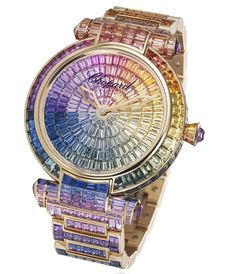 9eacaff57a0 Impériale watch in rose gold set with colored sapphires and amethysts by  Chopard