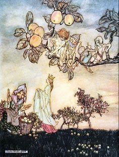 Arthur Rackham -A dish of apples