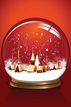 World inside a glass ball