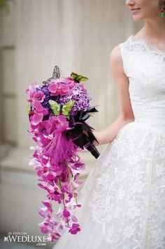 """Hay un estilo alucinante que se ha convertido en una tendencia para las flores de la boda: """"en cascada""""."""