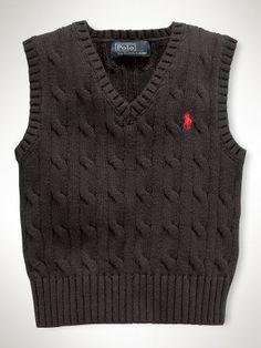Classic Cable Vest - Infant Boys Sweaters - RalphLauren.com