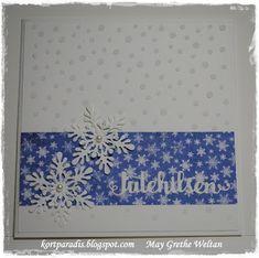 Kortparadis Kortparadis.blogspot.com Kort Card Håndlaget Handmade Homemade Scrapping Kortscrapping snow christmas jul julekort Papirdesign dies