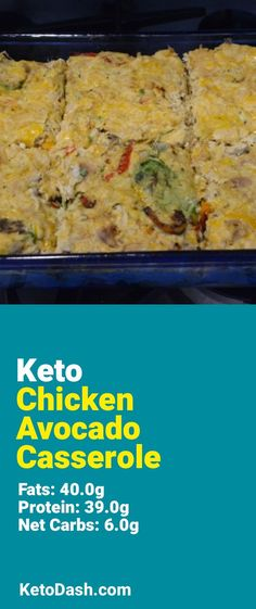 Trying this Chicken Avocado Casserole and it is delicious. What a great keto recipe. #keto #ketorecipes #lowcarb #lowcarbrecipes #healthyeating #healthyrecipes #diabeticfriendly #lowcarbdiet #ketodiet #ketogenicdiet