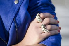 Blue jacket and winged ring, cute