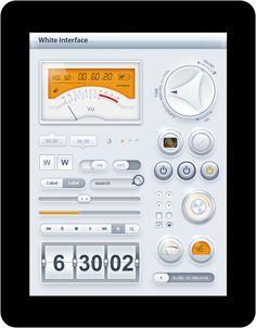 Tablet/Phone User Interface White PRO SET
