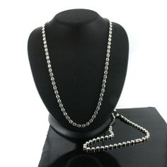 """hsn Suzanne Somers Endless Clear Crystal Silvertone 51"""" Necklace F122 #SuzanneSomers #Strand"""