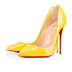 Christian Louboutin Pigalle Follies 120 mm yellow