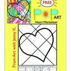 Valentine's Day Pop Art Draw and Color Worksheet/Printable  ***FREE***
